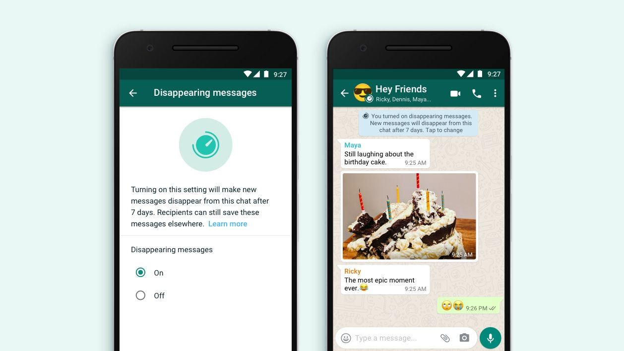 WhatsApp Introducing Disappearing Messages