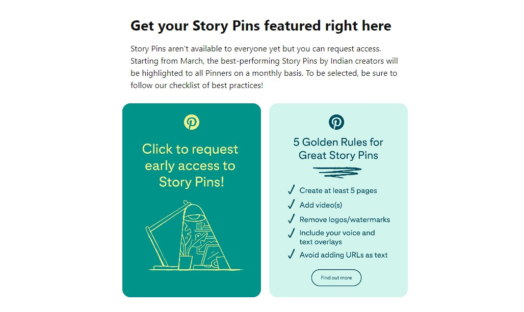 Pinterest starts testing Story Pins in India as an early access