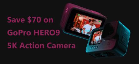 Save $70 on GoPro HERO9 5K Action Camera