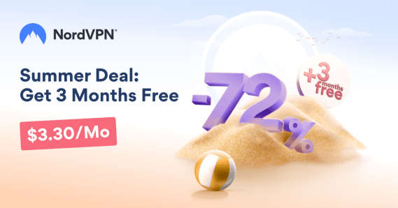 Summer Deal: Get 72% off on NordVPN with 3 months free