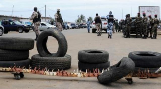Frontière ivoiro-ghanéenne à Noé.