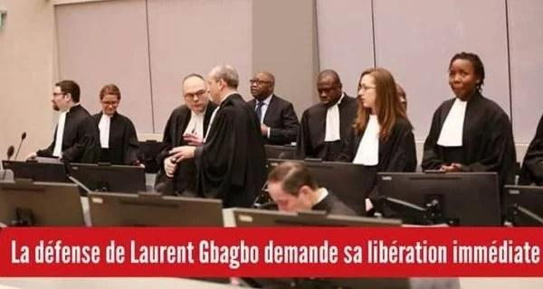 CPI : La défense de Laurent Gbagbo et Blé Goudé demande leur libération immédiate (Motifs Requête de la Défense de Laurent Gbagbo)