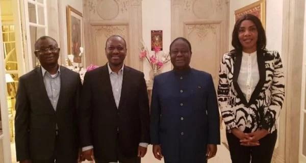 Paris: Chaleureuses retrouvailles entre le Président BEDIE et le Président SORO