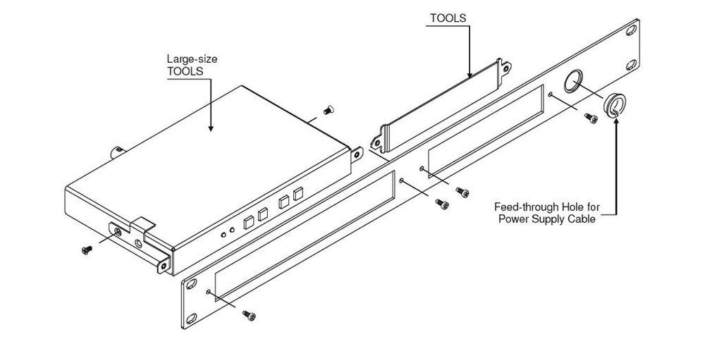 Kramer RK-T2SB 19-Inch Rack Adapter for TOOLS & MegaTOOLS