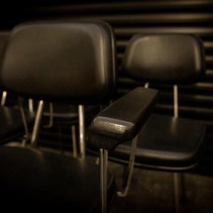 Vintage zwarte stoelen
