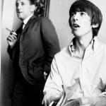 Ivor Davis with George Harrison during summer 1964 Beatles Tour. Ivor was George's ghostwriter for his column in the Daily Express. Photo credit: Ron Joy/Belle Schwartz Estate