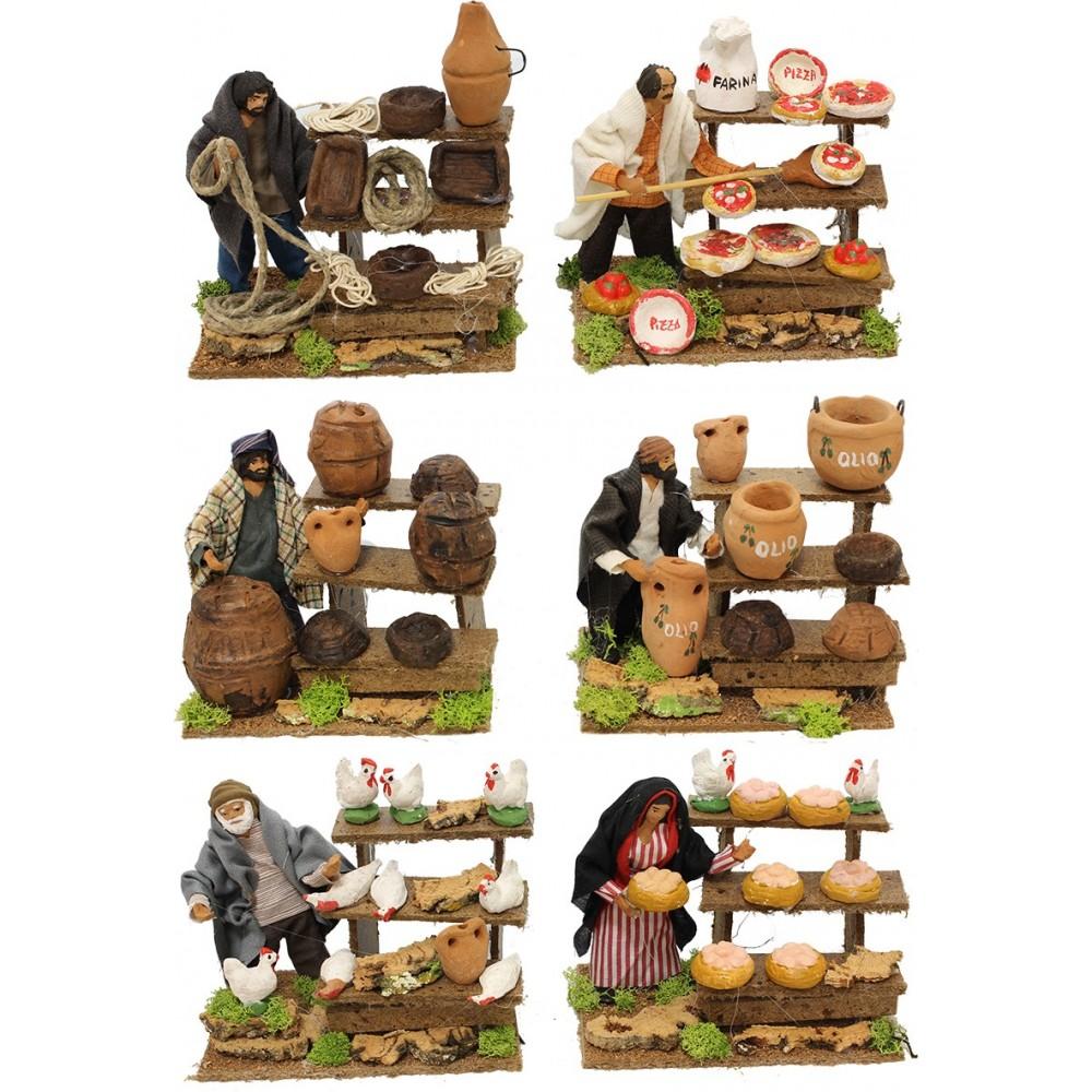 Personaggi per presepe Statuine in terracotta con