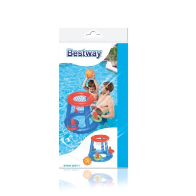 Canestro gonfiabile galleggiante gioco basket piscina Bestway 52190  IVO STORE