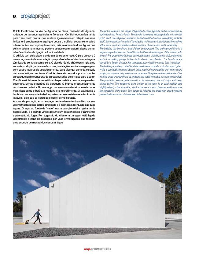 Revista Arqa 135 Arquitecto Joao Albano Adega 3 3 do fotografo Ivo Tavares Studio