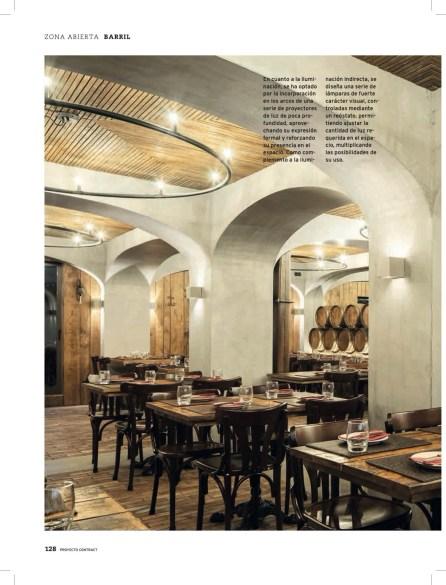 Restaurante Barril do Paulo Merlini Arquitecto na revista Proyecto Contract com fotografia de arquitectura Ivo Tavares Studio