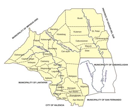 Malaybalay City Political Map | Malaybalay City Barangay Elections 2013