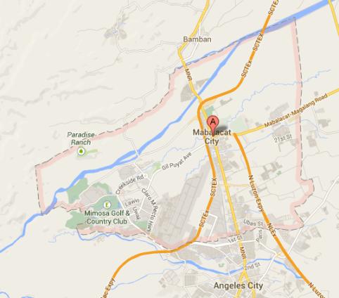 Map of Mabalacat City | Mabalacat Barangay Elections 2013