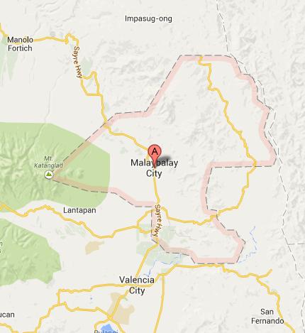 Map of Malaybalay City | Malaybalay City Barangay Elections 2013