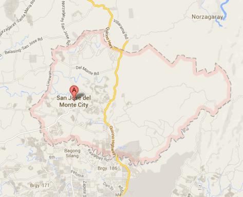 Map of San Jose Del Monte City | San Jose Del Monte City Barangay Elections 2013