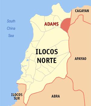 Adams, Ilocos Norte Barangay Elections 2013 Map