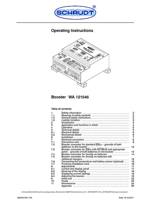 Charging Booster WA 121545, incl. connection and