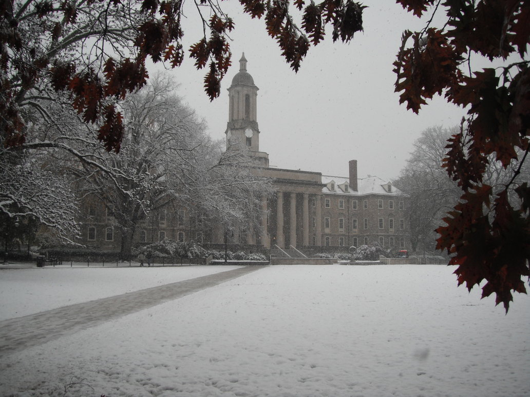 Fall In Boston Wallpaper The Snow Covered Campus