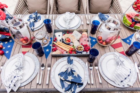 Contemporary July 4 Tablescape