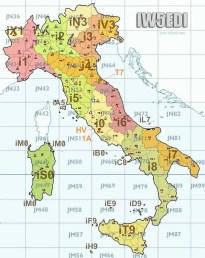 Italy Ham Radio map