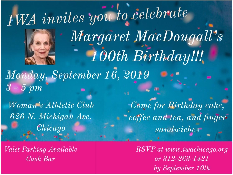 iwa celebrates margaret macdougall s