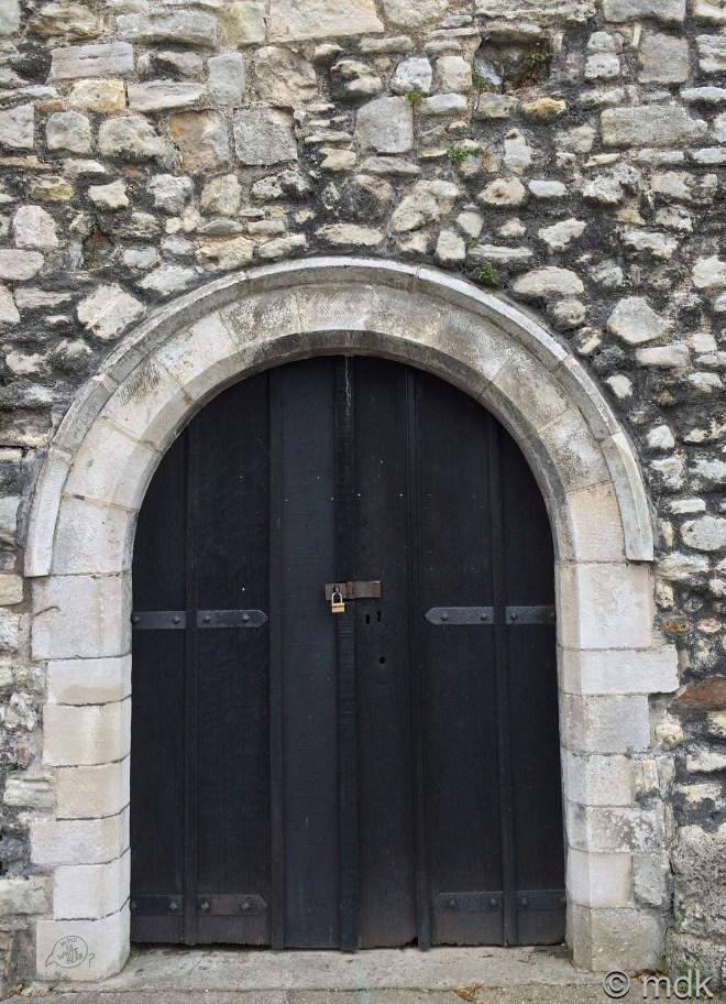 The sturdy door to the castle vault