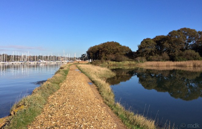 The causeway joins the land