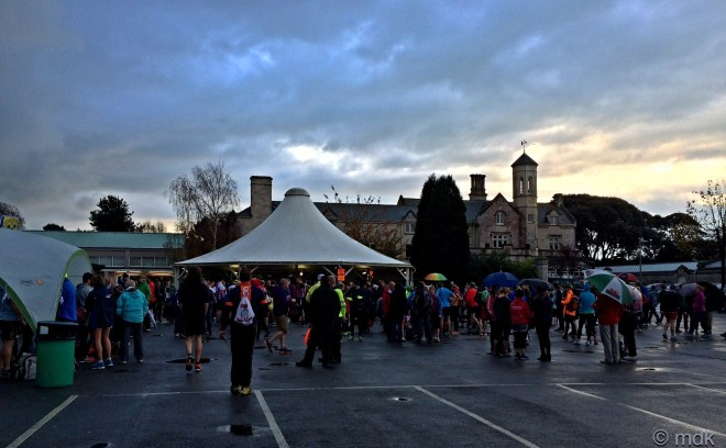 Runners gathering at Bay House School
