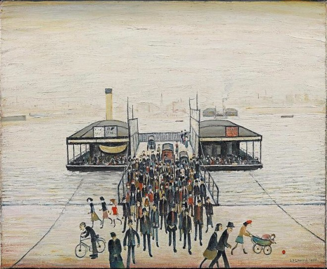 Floating Bridge by L S Lowry