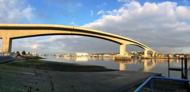 The Itchen Bridge, made of gold