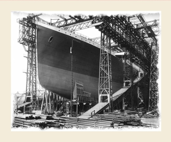 Titanic during construction