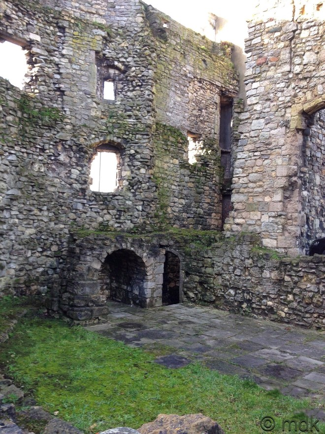 Inside Canute's tower