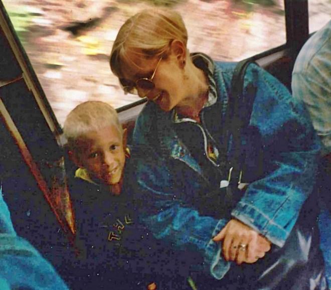 Us on the Lynton and Lynmouth railway circa 1995