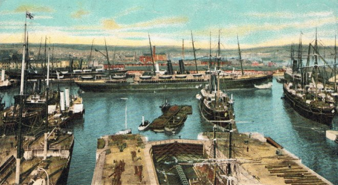Post card iof the Outer Dock