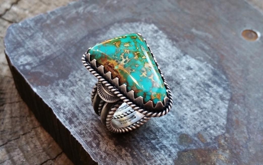 Trkis und Silber  Schmuck der NavajoIndianer im
