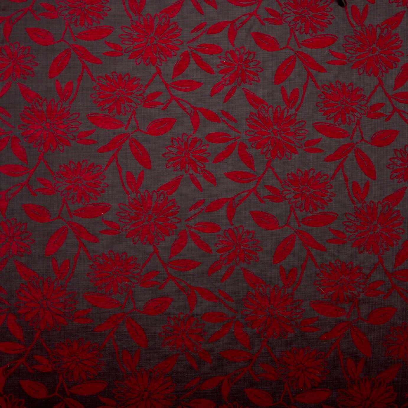 Luxury Soft Floral Swirl Chenille Flower Upholstery Sofa Curtain Fabric Material