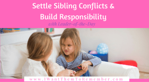 settle sibling conflicts