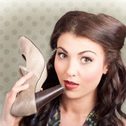 stockfresh_3160355_retro woman high heel shoe sizeXS