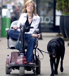 Josie walking her dog