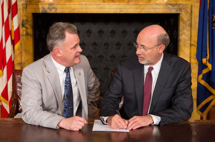 Tom Wolf signing HB400