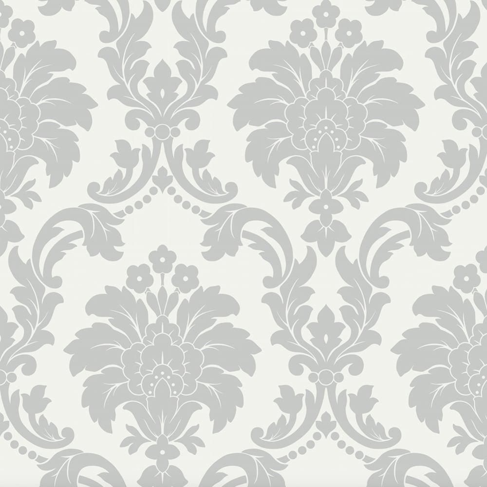 Arthouse Romeo Damask Pattern Wallpaper Modern Metallic Floral Motif 693503 Grey I Want Wallpaper