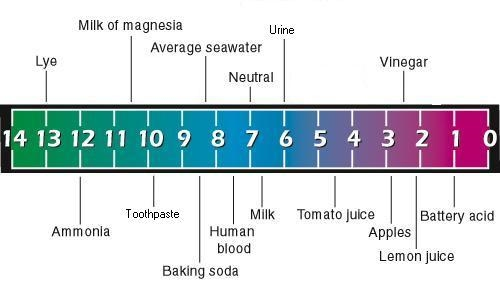 PH levels of various water