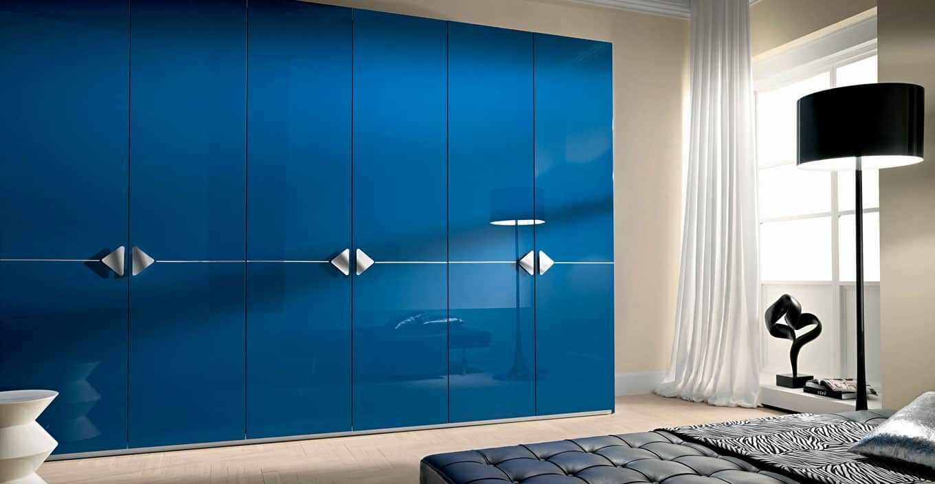 Modern High Gloss Fitted Closets Iwardrobes