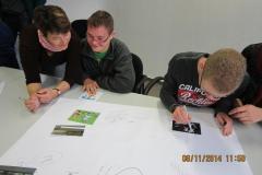 Bildungsveranstaltung mit Behinderten und Eltern