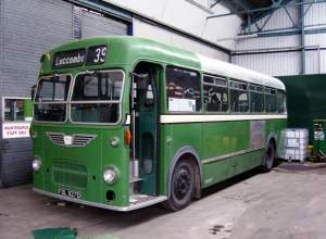 806 (FDL927D) is seen under repair in Southern Vectis Ryde depot on 27 May 2008, following a mishap with a tree