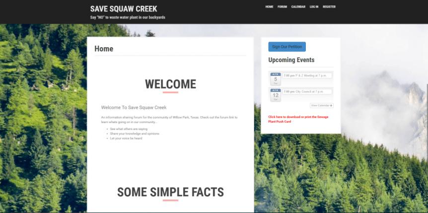 Infinite Web Development, Save Squaw Creek