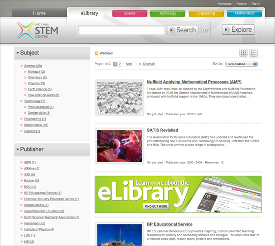 The National STEM Centre launches new online eLibrary