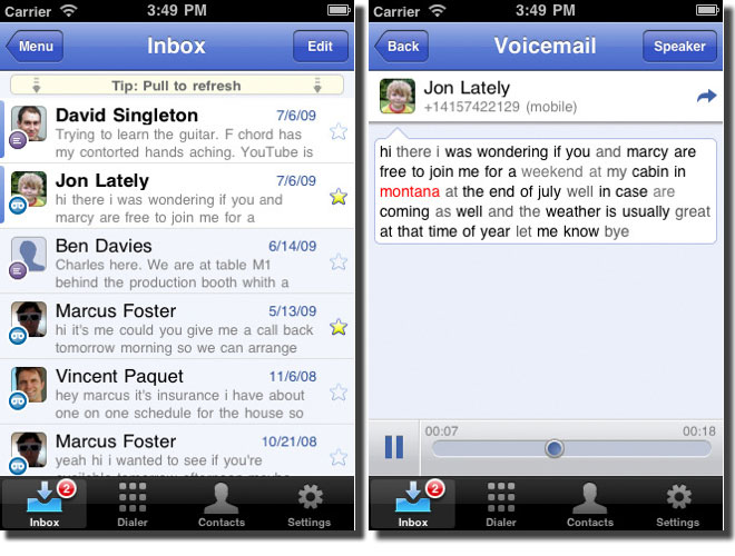 Google Voice Launches on iPhone
