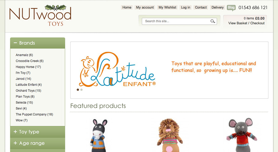 Nutwood Toys Magento eCommerce Goes Live