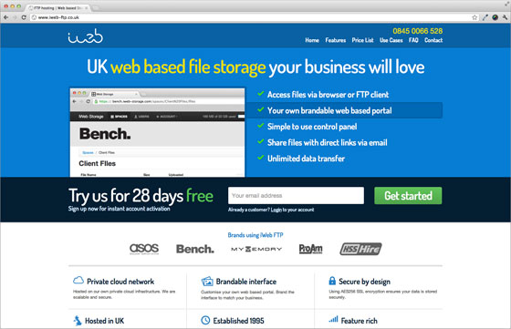 iWeb launches the complete web-based FTP storage solution