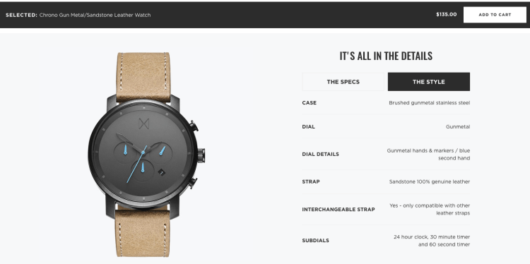 Product Pages that Sell | MVMT Watches